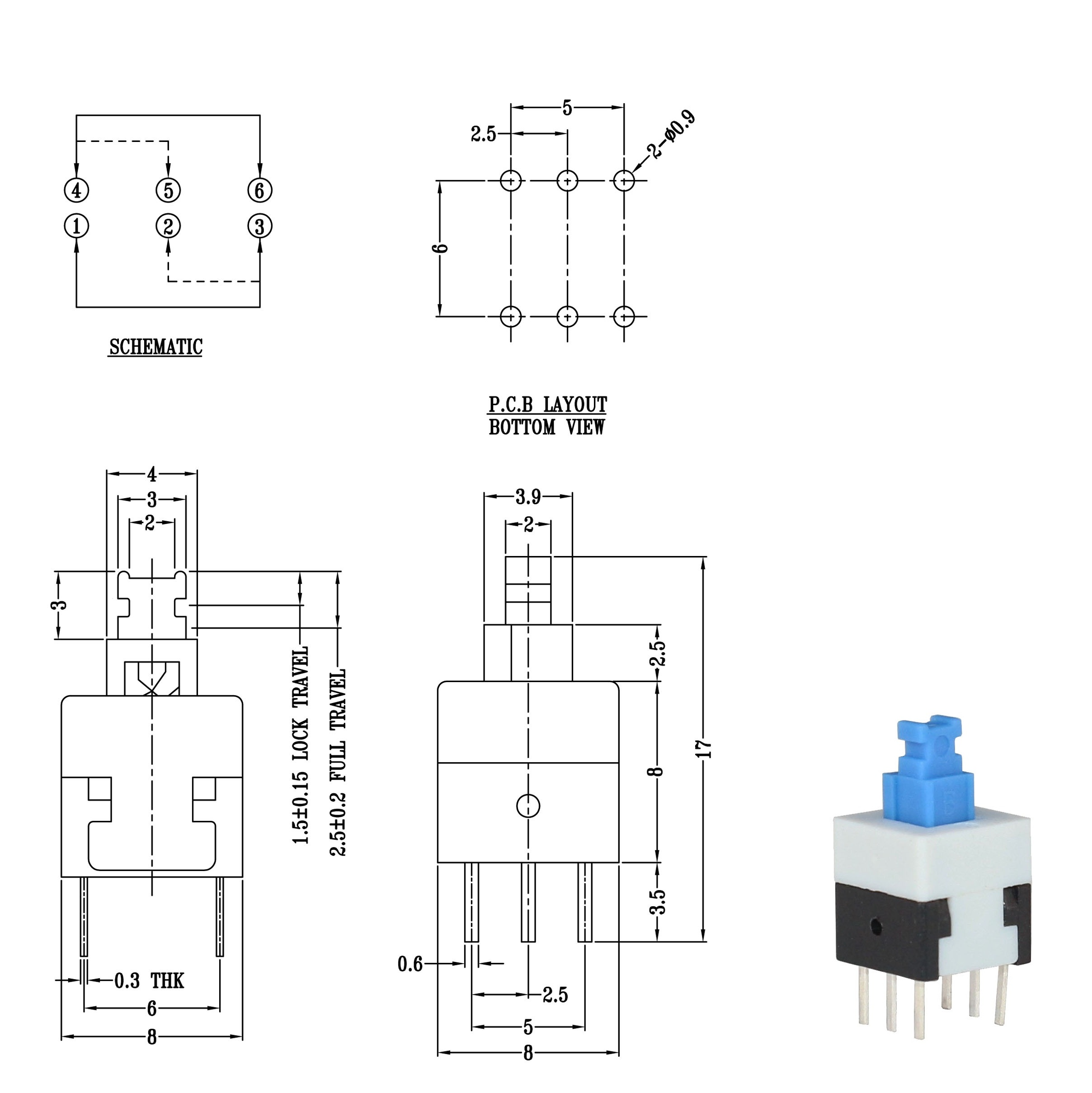 8.5*8.5mm Push Button Switches